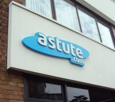 Astute-built up logo fascia panel