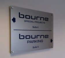 Bourne - acrylic-with stand-off-fixings
