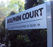 Dolphin-Court-Pavement-sign