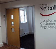 Netcall-wall-graphics
