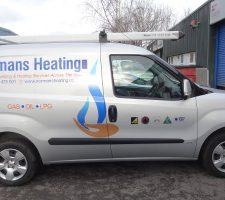 Normans-Heating-van