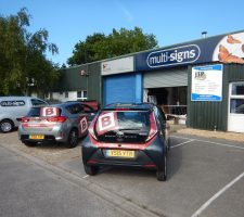 The Bungalow Centre vehicle graphics